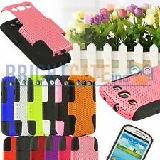 Colorful Hybrid Mesh Hard,Soft Case Cover Skin For Samsung Galaxy S3 S