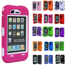 Color Black 3-Piece Rubberized Hard Case Cover for iPhone 3G S 3GS Acc
