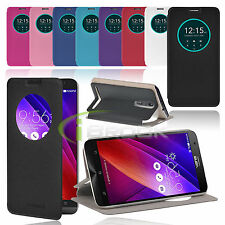 Window Flip PU Leather Case Sleep,Wake Function Cover Stand For ASUS Z