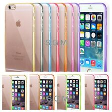 "Apple iPhone 6 case 4.7"" TPU Bumper Slim Transparent Clear Hard Back C"