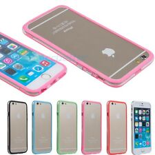 "For Apple iPhone 6 4.7"" 6+ Plus 5.5"" - Soft TPU Bumper Frame Case Cover Clear"