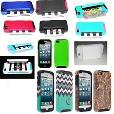 For Apple iPhone 5 , 5S Hybrid Hard Credit Card ID Holder Case Skin Ph