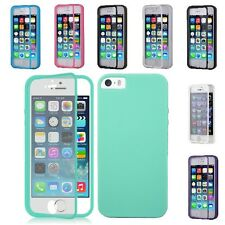 For Apple iPhone 5S , 5 Wrap Up TPU Skin Case Cover W, Built in Screen