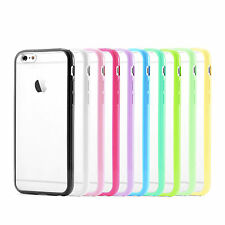 Ultra Slim TPU Bumper Frame With Matte Clear Hard PC Case Cover Skin f