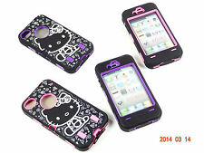 HELLO KITTY CASE FOR APPLE IPHONE 4 4S SHOCKPROOF HYBRID W, SCREEN PRO