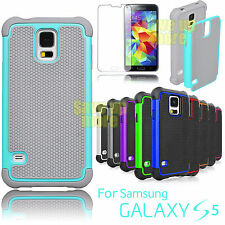 Rubber Plastic Defender Impact Hard Case Cover For Samsung Galaxy S5 S