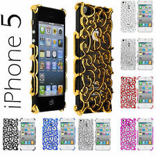 Luxury Style Chrome Hollow Pattern Snap-on Case For iPhone 5