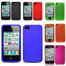 For Apple iPhone 4S Sprint Verizon AT&T Colorful Rubberized Hard Case Cover