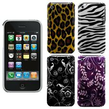 Zebra Flower Leopard Back Hard Case Cover for Apple iPhone 3G, 3GS