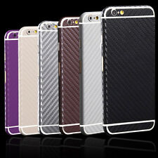 Carbon Fiber Sticker Full Body Film Screen Protector Skin For iPhone &