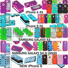 Hybrid Robot Matte Case For Apple iPhone 5 5S 4 4S , Samsung Galaxy S3