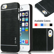 Luxury Metal Aluminum Brushed + PC Hard Back Cover Case Skin For iPhone 5 5S