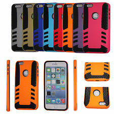 "FOR APPLE IPHONE 6 4.7"" HYBRID SKELETON ARMOR IMPACT CASE COVER SCREEN PROTECTO"