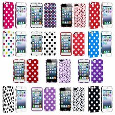 Color TPU Polka Dot Rubber Skin Case Cover For Apple iPhone 5 5G 5th 5S