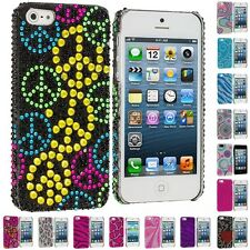 Color Diamond Rhinestone Bling Cute Rear Back Slim Case Cover for iPho