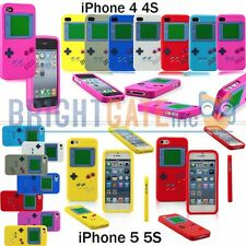 For Apple iPhone 4 4S iPhone 5 5S Game Style Soft Silicone Rubber Gel Skin Case