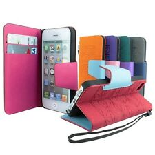 For Apple iPhone 5 5S S 5G Flip Card Wallet PU Leather Stand Cover Case Pouch