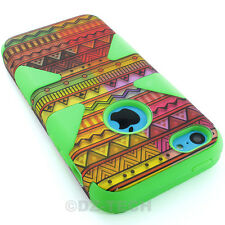 For Apple iPhone 5C Colorful Design Dynamic Tuff Impact Hybrid Hard Ca