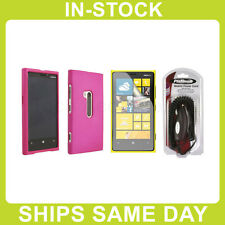 AT&T Nokia Lumia 920 Rubberized Hard Case Cover Shield Skin - Pink