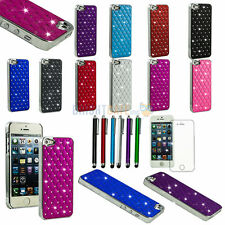 Luxury Shining Stars Bling Crystals Hard Case Cover Skin For iPhone 5 5S + Gifts