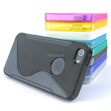For Apple iPhone 5S 5 Colorful S-Shape Ultra-Thin Glossy TPU Skin Case Cover