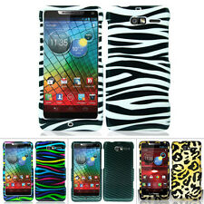 For Motorola Droid Razr M XT907 Verizon Colorful Design Hard Case Snap