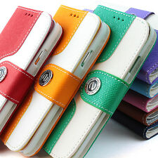 For Apple iPhone 4 4S Fashion Wallet Flip Stand PU Leather Case Pouch