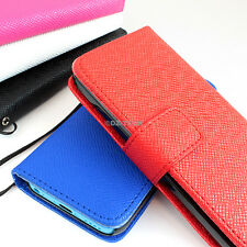 For Apple iPhone 5C Flip ID Holder Wallet Hybrid PU Leather Case Pouch