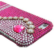 "For Apple iPhone 6 4.7"" Bling Diamond Rhinestone Hard Case Snap On Cover Phone"