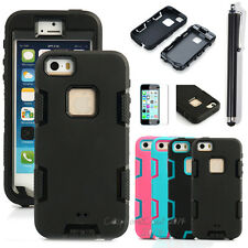 PC Shockproof Dirt Dust Proof Hard Matte Cover Case For iPhone 5 5S+Sc