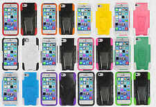 For Apple iPhone 5C Hard Advanced HYBRID KICK STAND Rubber Silicone Case Cover