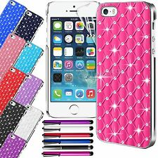 Diamond Bling Chrome Hard Rhinestone Case Cover For APPLE iPhone 5 5S