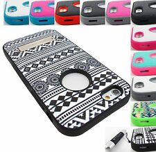 FOR APPLE IPHONE 5,5S,5C,6 MYBAT VERGE DUAL LAYER HYBRID CASE COVER+ST