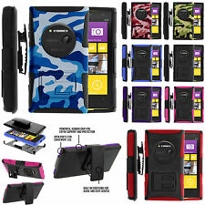 For Nokia Lumia 1020 Rugged Armor Silicone Hard  Holster Clip Belt Case Cover