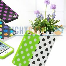 New Color TPU Polka Dot Rubber Snap-on Skin Case Cover For Apple iPhone 5 5S