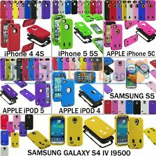 Hybrid Robot Armer Case Cover for iPhone 4 4S 5 5S 5C iPod 4 5 Samsung S4 S5