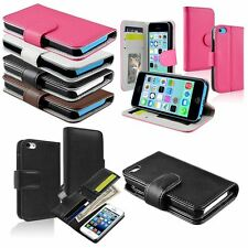Wallet Credit ID Card Holder Leather Flip Stand Case Cover Pouch For iPhone 5C