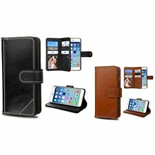 For iPhone 6 & 6 Plus Genuine Leather Wallet Card Holder Flip Stand Ca