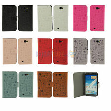 NEW Magic Cartoon PU Leather FLIP Case Cover For Samsung Galaxy Note 2 II N7100