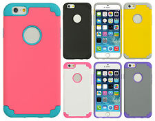 For Apple iPhone 6 4.7 HARD Hybrid Rubber Silicone Case Cover + Screen Guard
