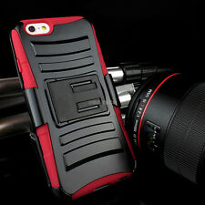 "For iPhone 6 4.7"" Plus 5.5 Rugged Hybrid Hard Case Cover Belt Clip Hol"