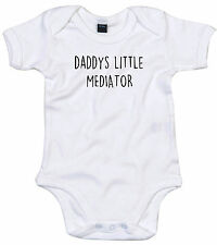 MEDIATOR BODY SUIT PERSONALISED DADDYS LITTLE BABY GROW GIFT