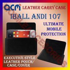 ACM-HORIZONTAL LEATHER CARRY CASE for IBALL ANDI 107 MOBILE POUCH COVER HOLDER