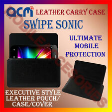 ACM-HORIZONTAL LEATHER CARRY CASE for SWIPE SONIC MOBILE COVER HOLDER PROTECT