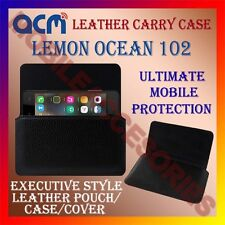 ACM-HORIZONTAL LEATHER CARRY CASE for LEMON OCEAN 102 MOBILE POUCH COVER HOLDER