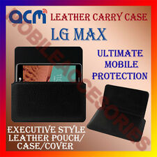 ACM-HORIZONTAL LEATHER CARRY CASE for LG MAX MOBILE POUCH COVER HOLDER PROTECT