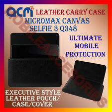 ACM-HORIZONTAL LEATHER CARRY CASE for MICROMAX CANVAS SELFIE 3 Q348 POUCH COVER