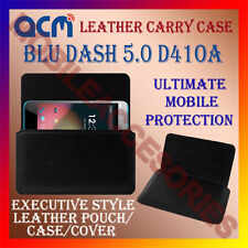 ACM-HORIZONTAL LEATHER CARRY CASE for BLU DASH 5.0 D41OA MOBILE COVER HOLDER NEW