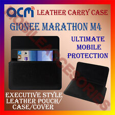ACM-HORIZONTAL LEATHER CARRY CASE for GIONEE MARATHON M4 MOBILE COVER HOLDER NEW