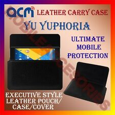 ACM-HORIZONTAL LEATHER CARRY CASE for YU YUPHORIA MOBILE COVER HOLDER PROTECTION